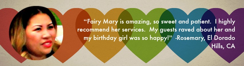 Parent testimonial for Fairy Mary Parties